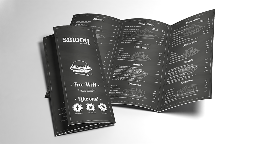 smooq bar & grill | Menukaart