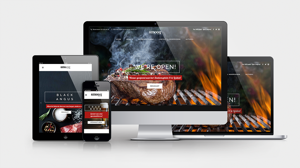 smooq bar & grill | Responsive Website