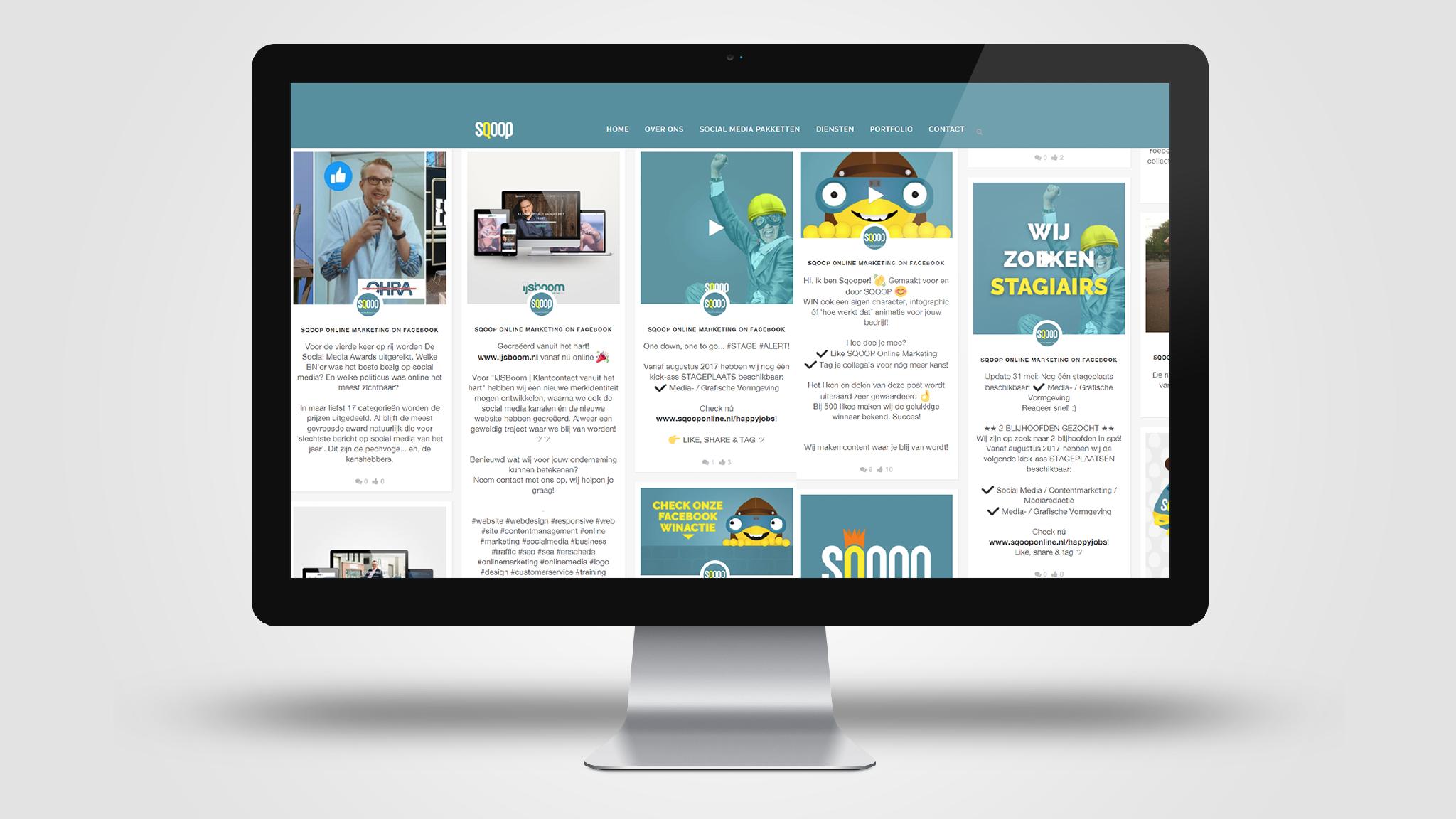 SQOOP Online Marketing | Social Media