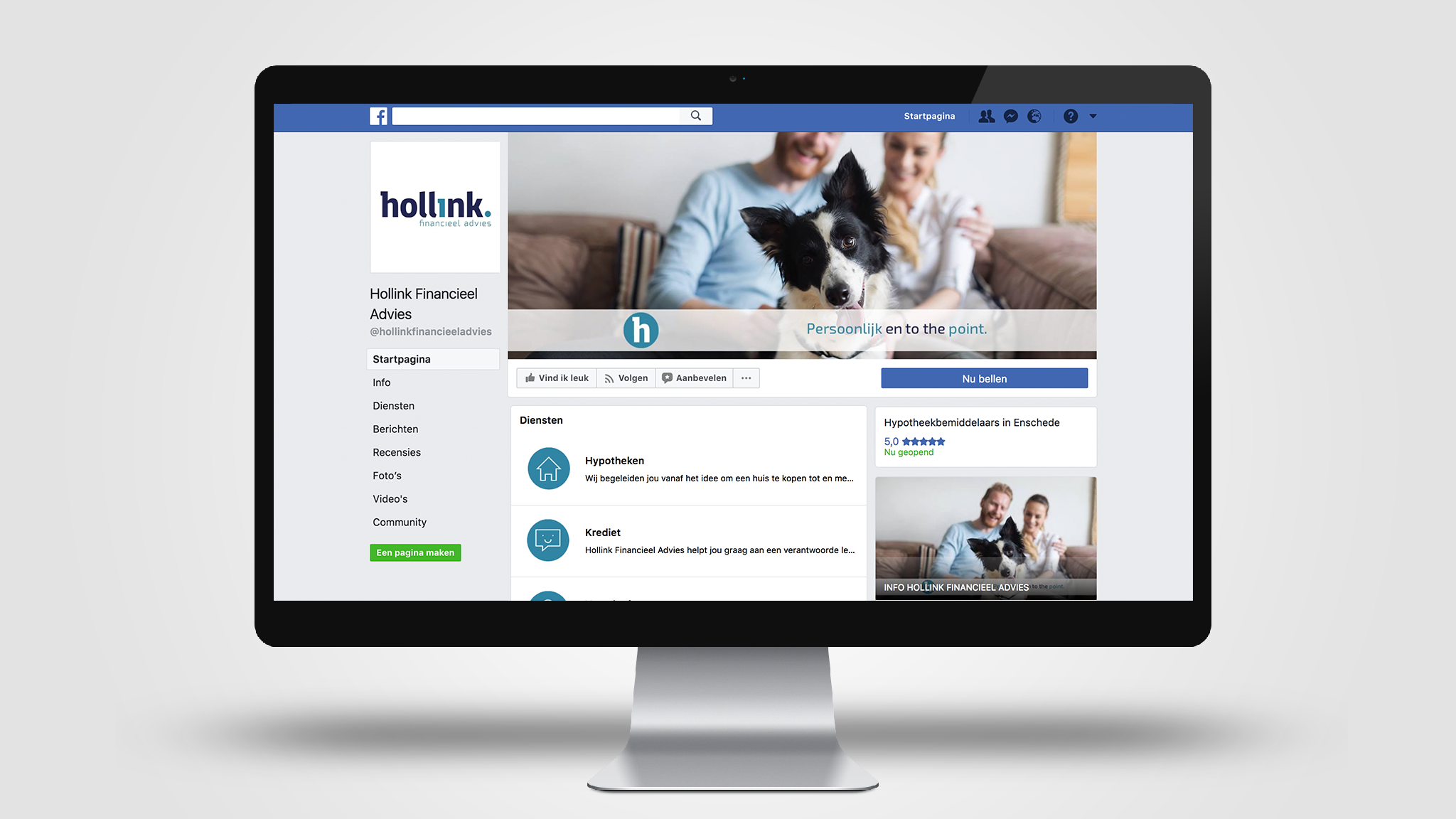Hollink Financieel Advies | Social Media | SQOOP Online Marketing